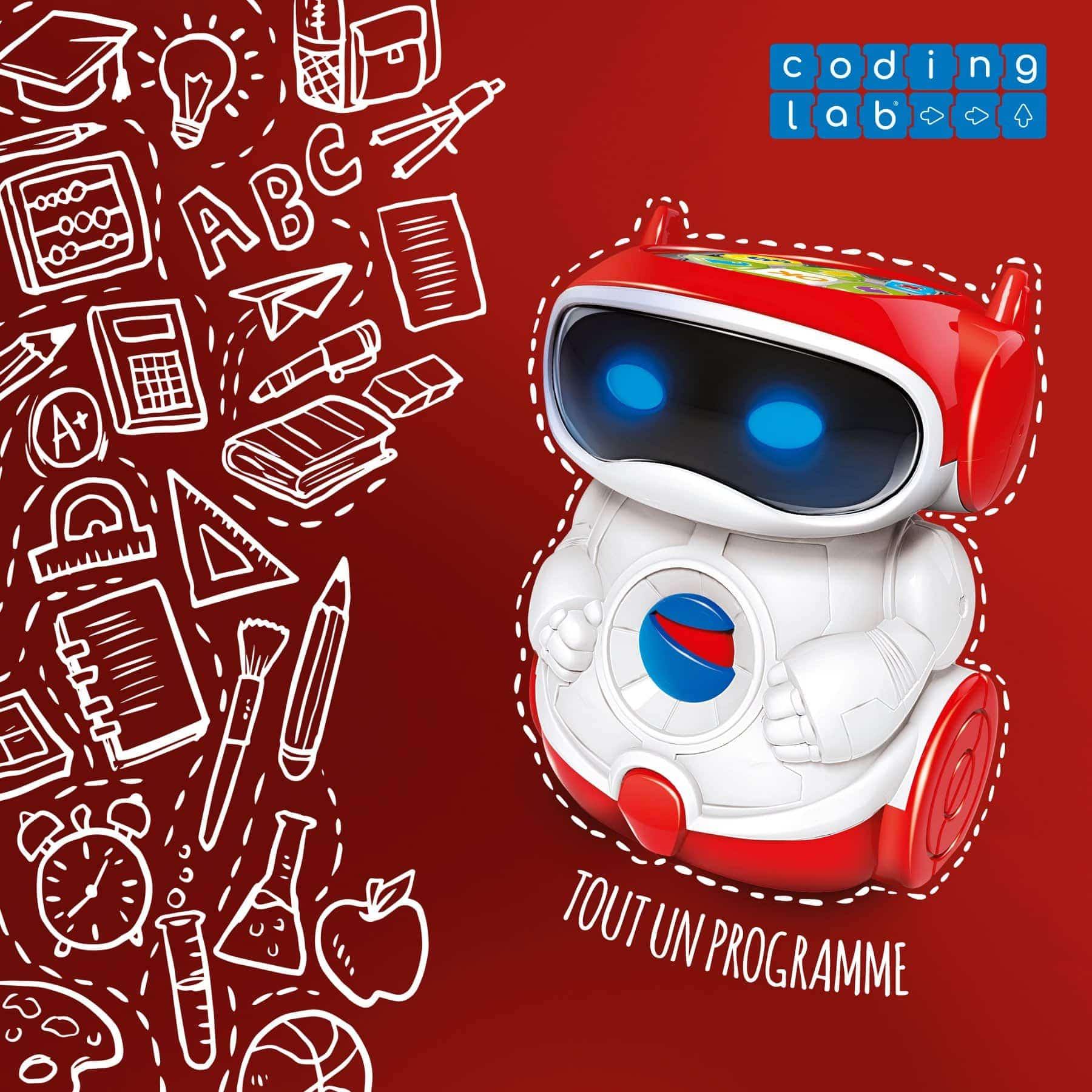 petit robot rouge de clementoni coding