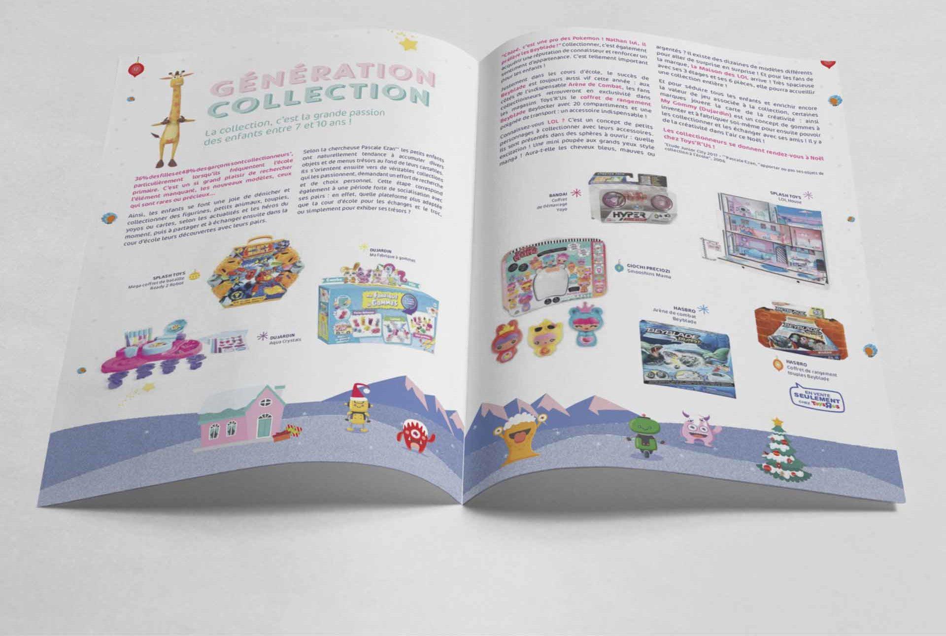 intérieur du catalogue l'esprit de noël par Toys'r'us