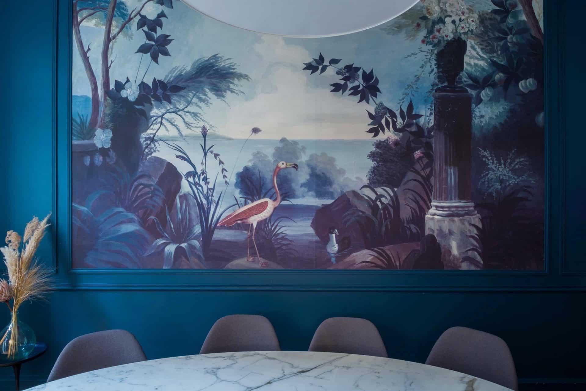 Fond d'une salle de l'agence Marie-Antoinette