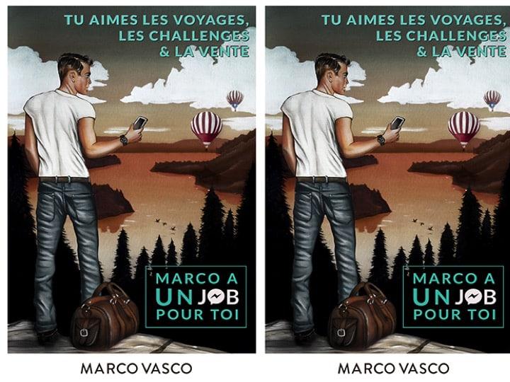 Affiche de Marco a un Job Pour Toi par Marco Vasco