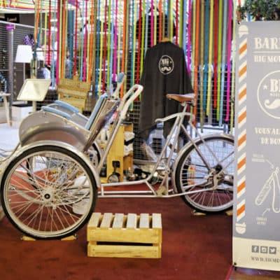 vélo exposé dans un centre commercial Klepierre pour le Let's Play Festival