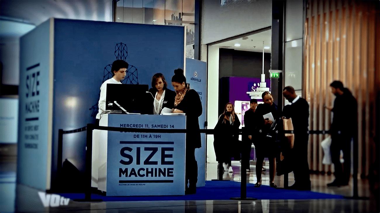 accueil de l'événement unibail size machine
