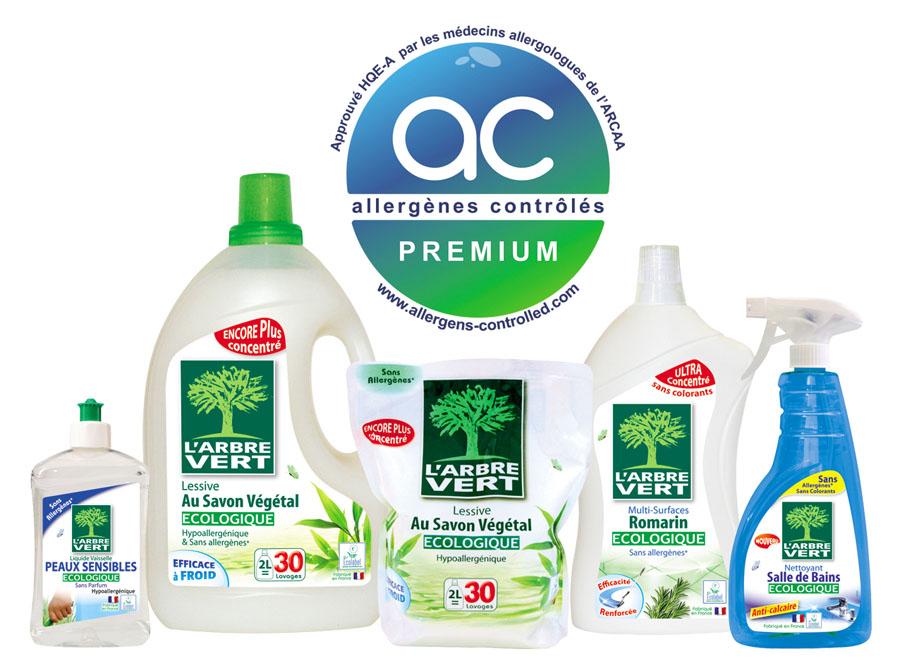 Gamme de produits ménagers L'Arbre Vert engagement santé