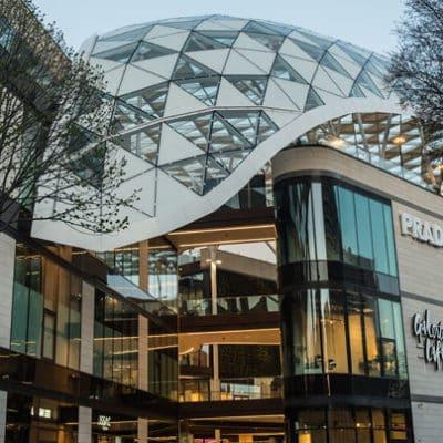 vue exterieure d'un centre commercial Klepierre