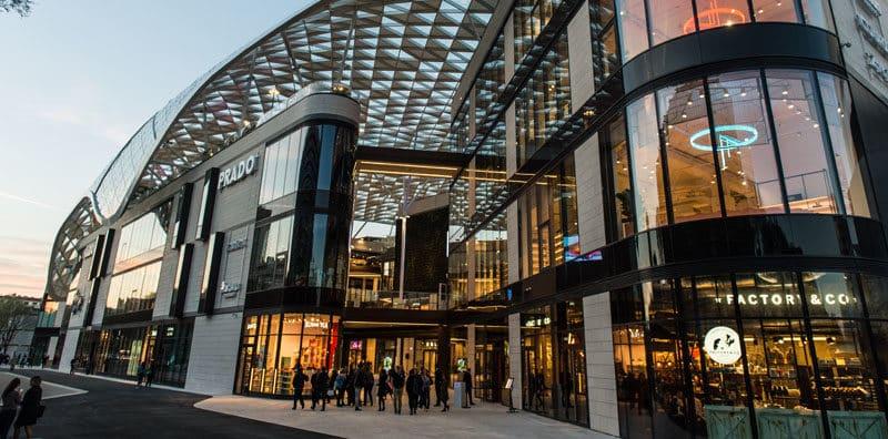vue extérieure d'un centre commercial Klepierre