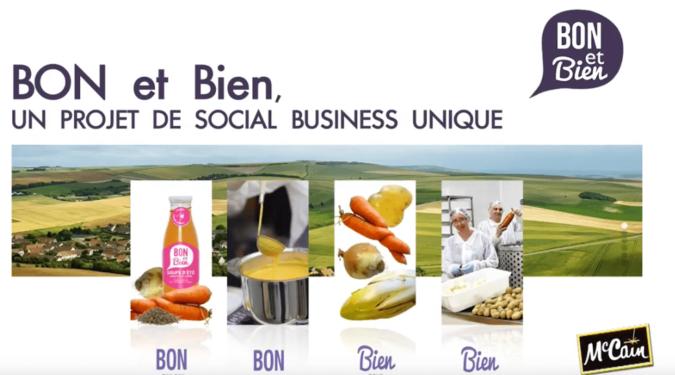 Vidéo de présentation du projet social business Bon et Bien par McCain