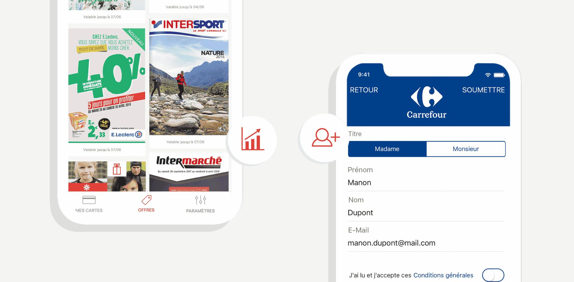 écrans digitaux Stacard avec Carrefour Intermarché Intersport